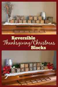 Reversible Thanksgiving/Christmas Blocks