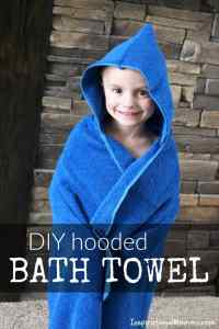 DIY Hooded Bath Towel