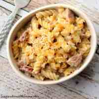 One-Pan Cheesy Kielbasa Pasta