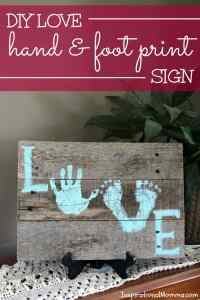 DIY Love Hand & Foot Print Sign