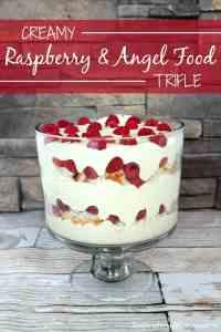 Creamy Raspberry & Angel Food Trifle