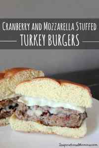 Cranberry & Mozzarella Stuffed Turkey Burgers