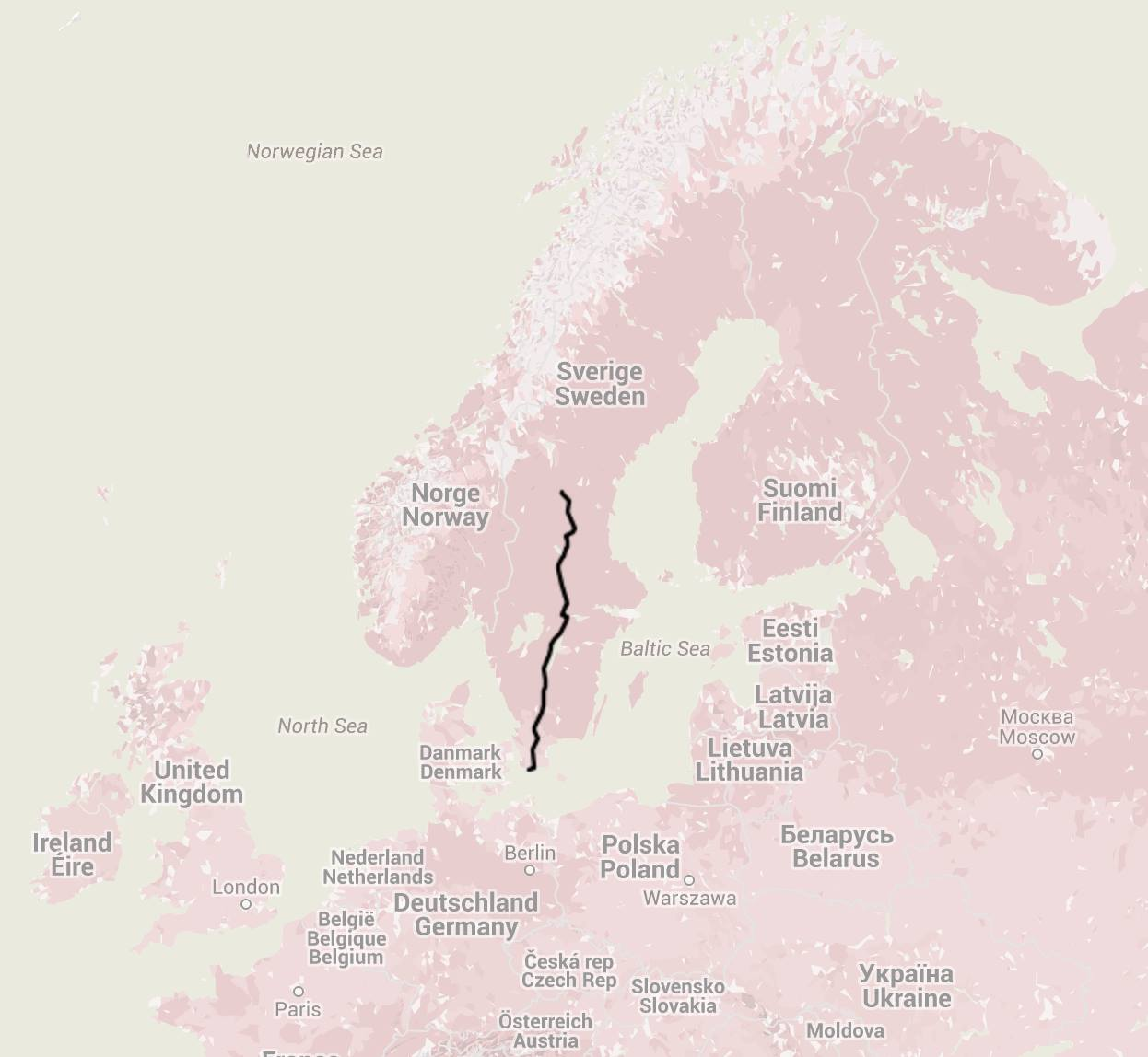 Walking through half of Sweden