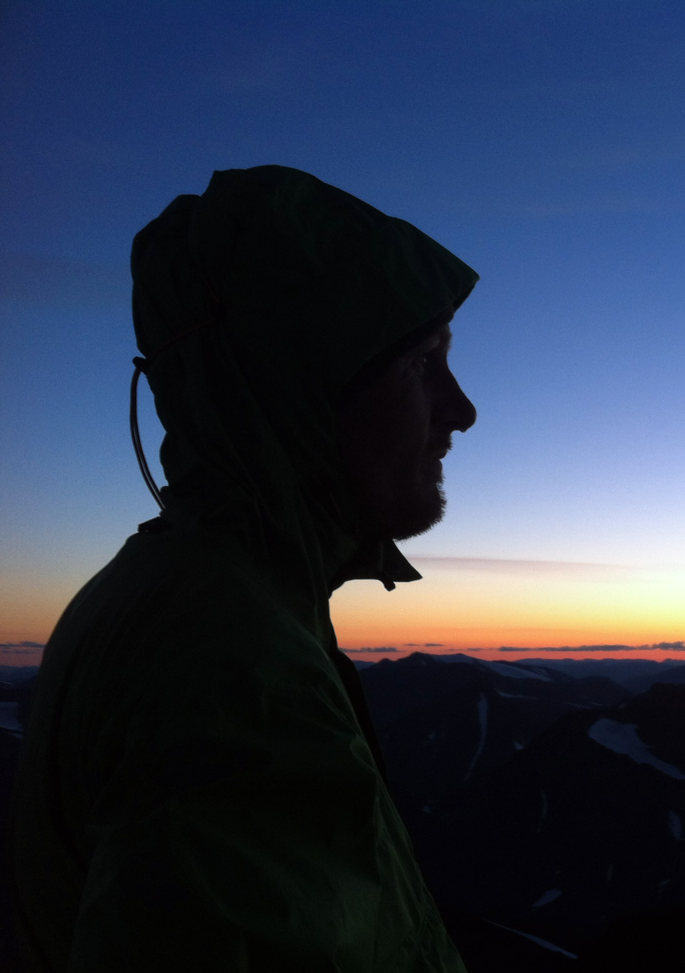 Niklas on the summit