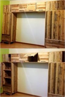 Repurposed Wood Pallet Closet Diy Ideas Motive