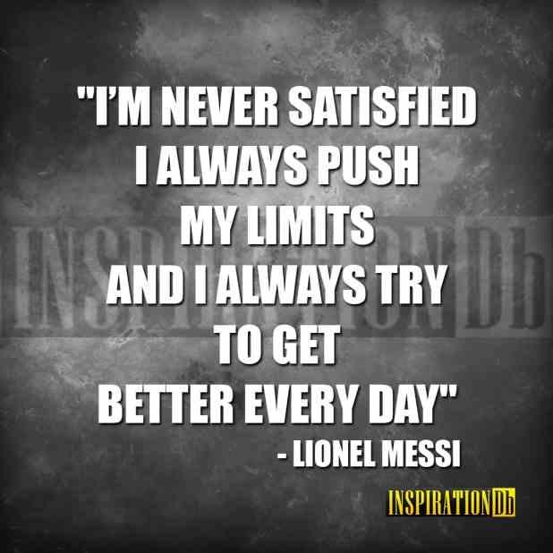 Lionel Messi Quote Poster