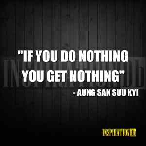 Aung San Suu Kyi Quote Poster