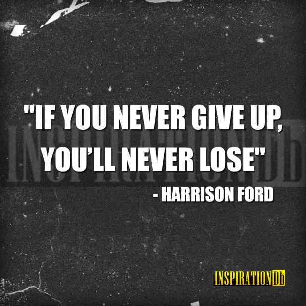 Harrison Ford Quote Poster