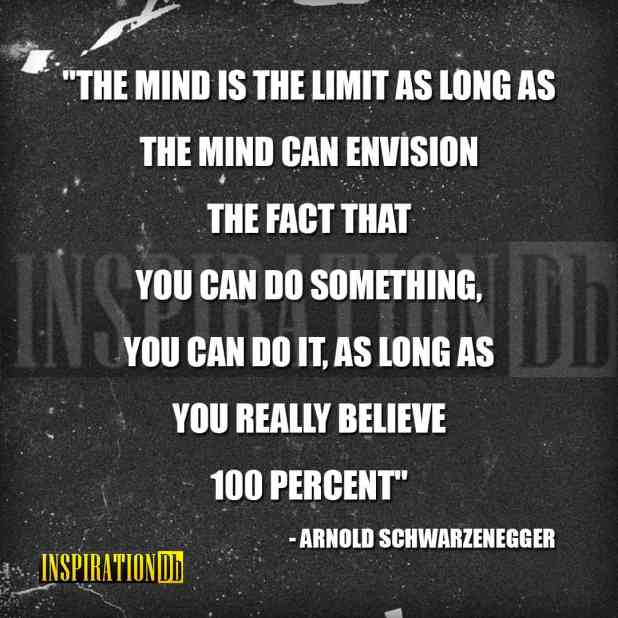 Arnold Schwarzenegger Quote Poster
