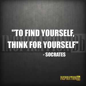 Socrates Quote Poster