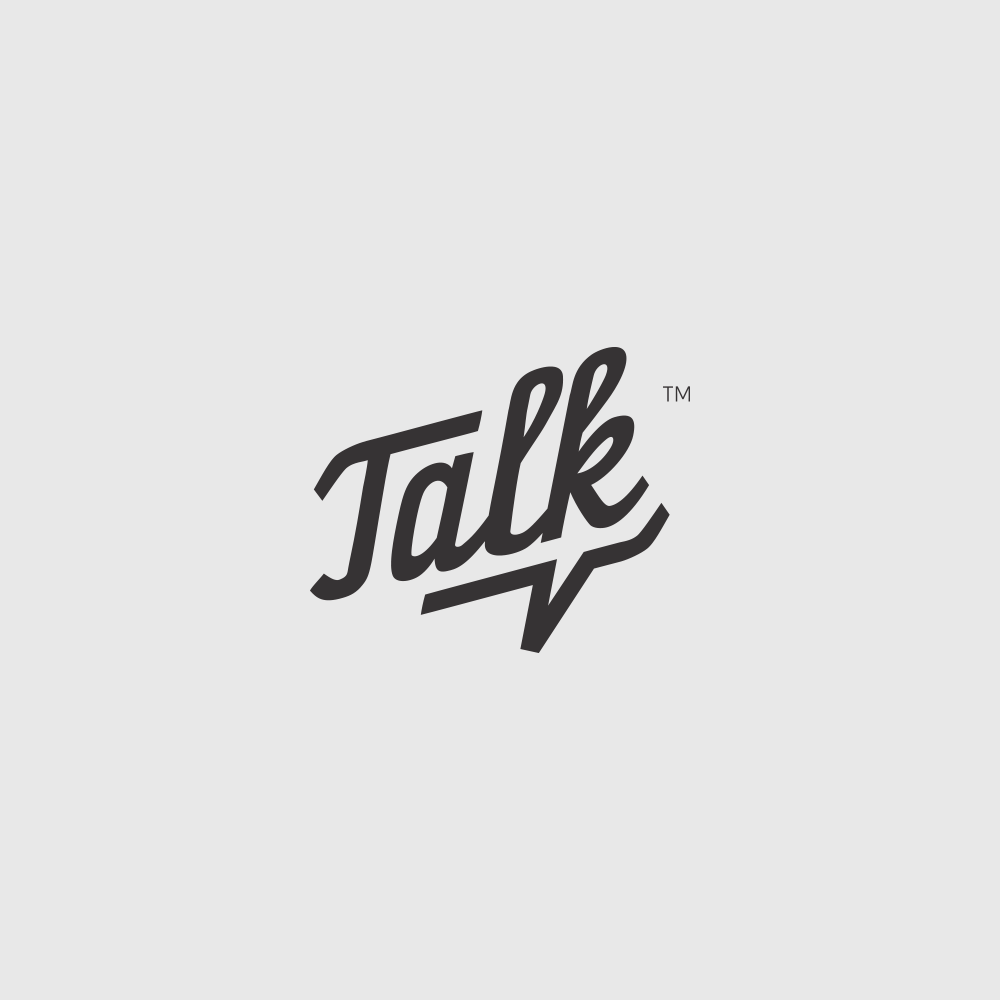 Talk logo with a subtle speech bubble on Inspirationde