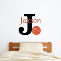 Personalized Name Basketball Wall Decal on Inspirationde