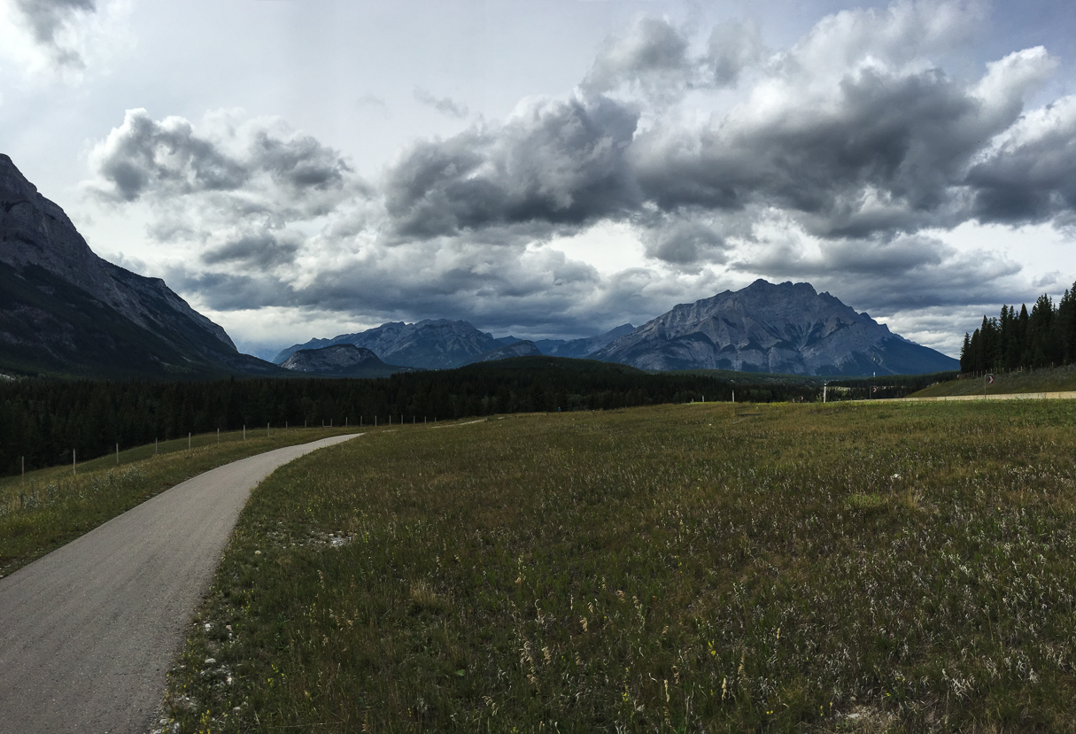 The Legacy Trail from Canmore to Banff is gorgeous