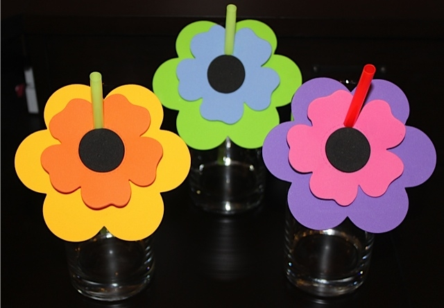 Flower Straws in Cups