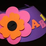 Flower Visor with Name