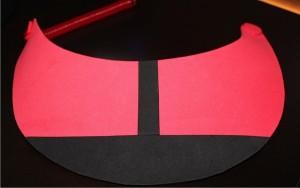 Add Stripe to center of Red Visor
