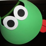 Foam Frog Visor with Red Tongue