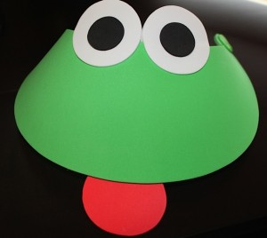 Frog Visor with Red Tongue