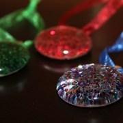 Glitter Glass Gem Ornaments