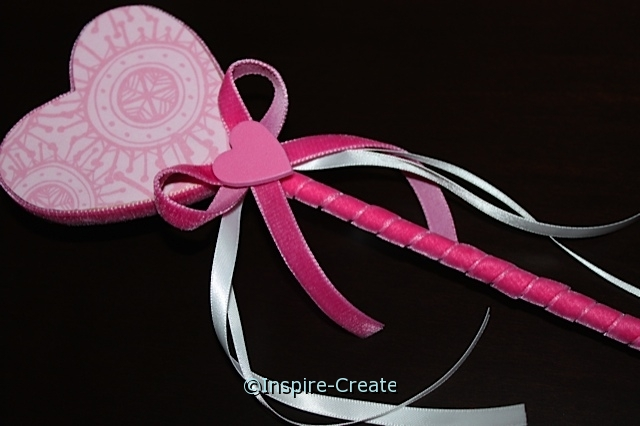 heart wand with velvet ribbon