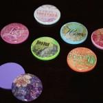 attach epoxy sticker to foam shapes