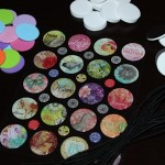 epoxy circle stickers, foam circles, adhesive craft magnets