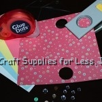 Bookmark Paper, Inserts, Sleeve, Punch, Glue Dots, and Supplies Needed