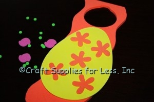 attach flowers to foam easter egg