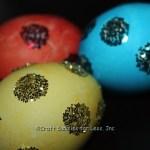 Glitter Polka Dot Easter Eggs