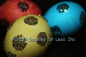 Glitter Easter Eggs with Glue Dots