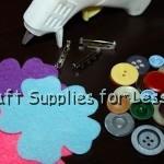 Felt Flower Pin Supplies