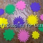 Assorted Pastel Flower Foam Shapes