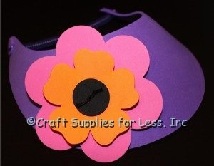 Foam Visor with Large Foam Flowers Attached