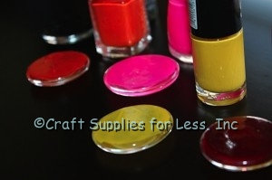 nail polish craft... paint back of gems with nail polish