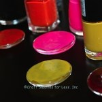 Colored Glass Gems with Nail Polish