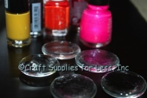 Small & Large Clear Glass Gems & Nail Polish