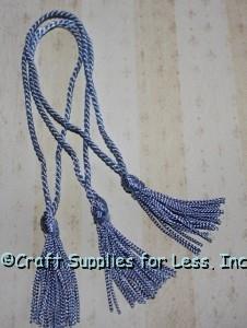 Light Blue Chainette Tassels