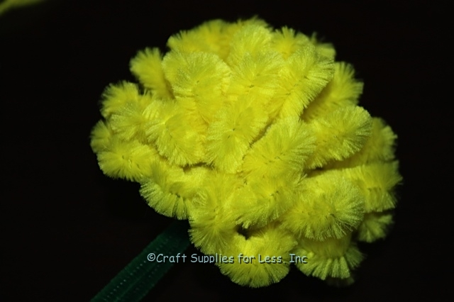 Yellow Bump Chenille Stem Flower