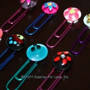 Small Glass Gem Paperclip Bookmarks