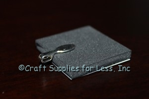 attach jewelry bail to back of foam with E6000