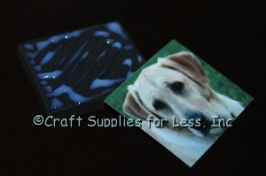 attach photo to foam with mod podge