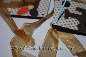 sheer ribbon connecting foam squares