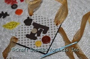 Sheer ribbon at top for hanger