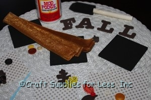 Supplies Needed for Fall Wall Decoration or Door Hanger