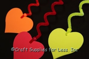 Foam Shapes on Twisted Chenille Stems with Pony Beads