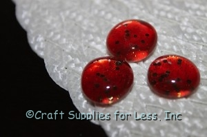 orange sparkle glass gems made with nail polish