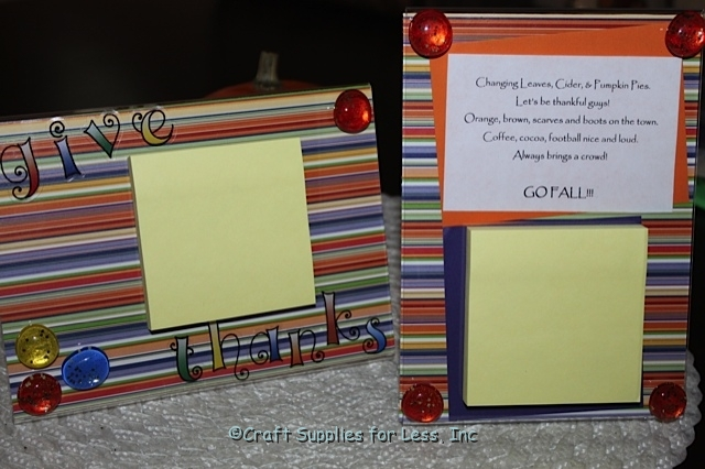fall acrylic frame holders for post it notes