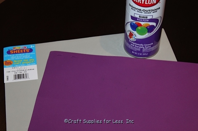 How to Spray Paint Craft Foam
