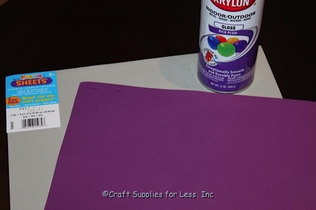 How to Spray Paint Craft Foam - Inspire-Create