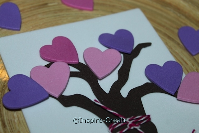 add hearts to tree branches